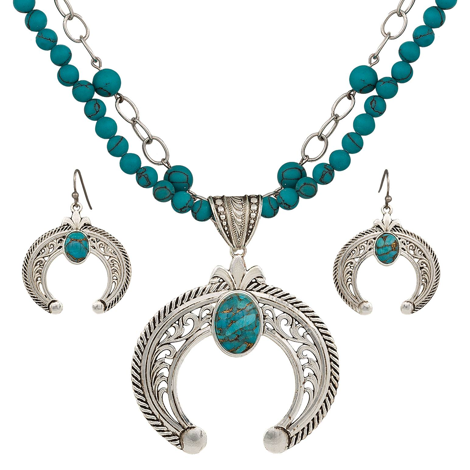 Montana Silversmiths Squash Blossom Statement Jewelry Set