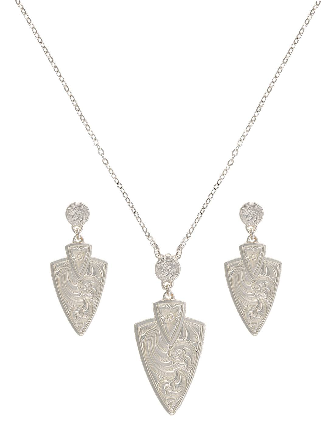 Montana Silversmiths A Keen Pursuit Arrowhead Jewelry Set