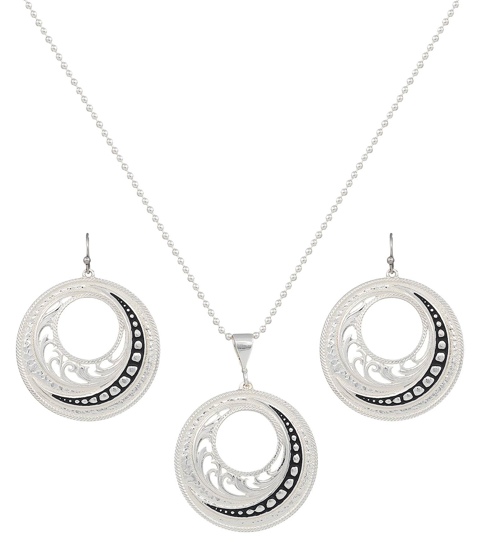 Montana Silversmiths Western Lace Winding Jewelry Set