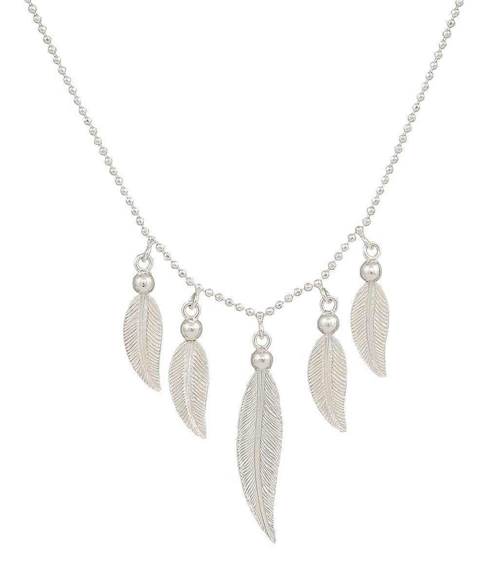 Montana Silversmiths Reverie Of Flight Feather Waterfall Necklace