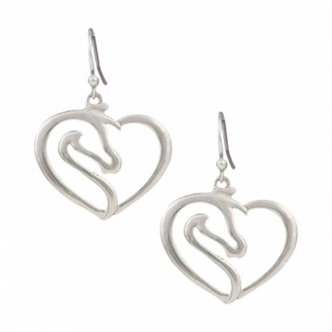 Montana Silversmiths Equestrienne Heart Earrings