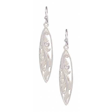 Montana Silversmiths Western Lace Marquise Grace Earrings