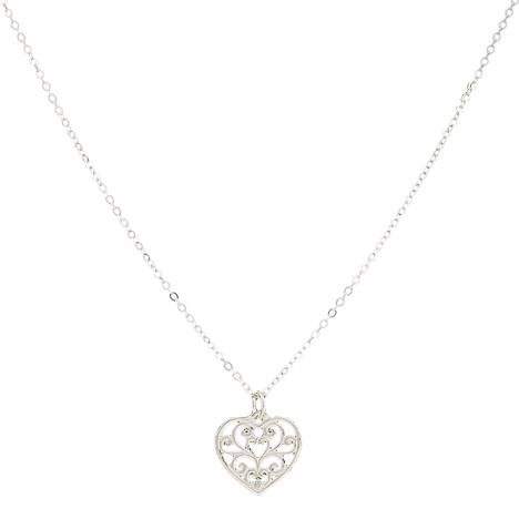 Montana Silversmiths Petit Heart'S Flame Lattice Necklace