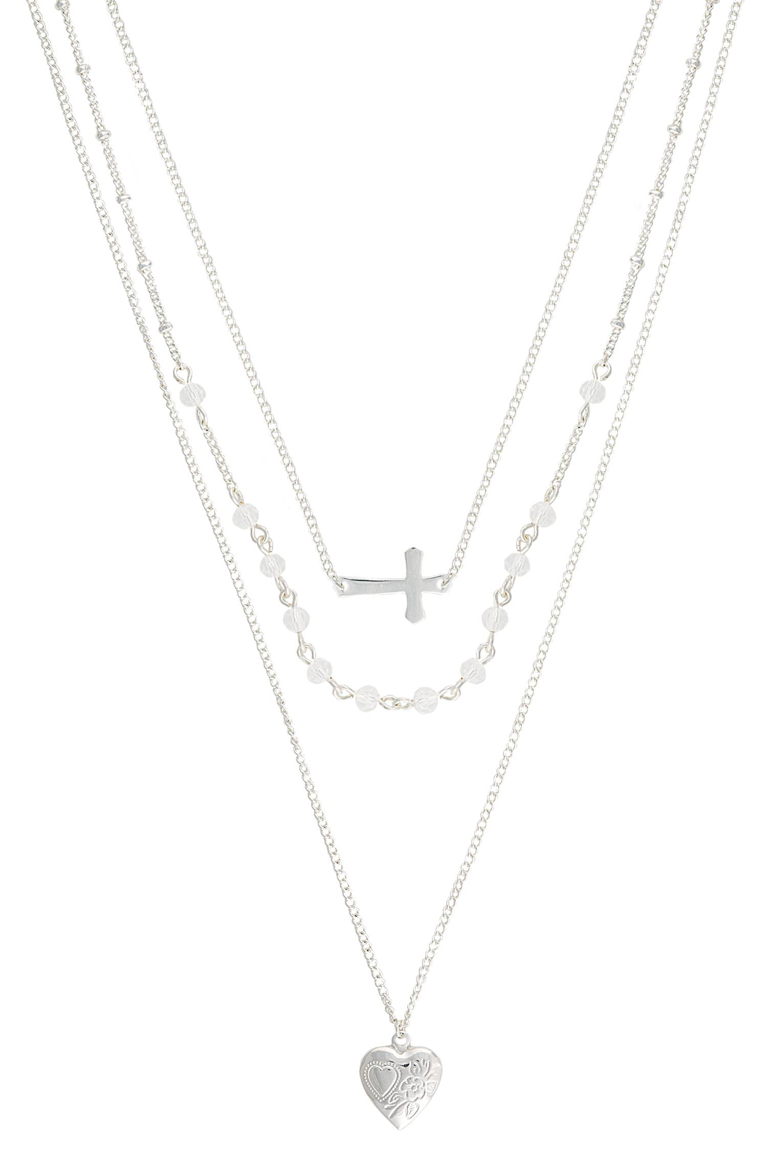 Montana Silversmiths Faith, Stars And Love Laye Necklace