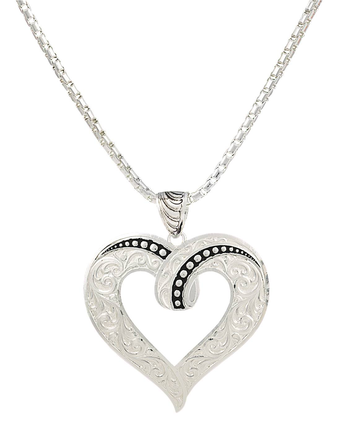 Montana Silversmiths Ribbon Heart Necklace