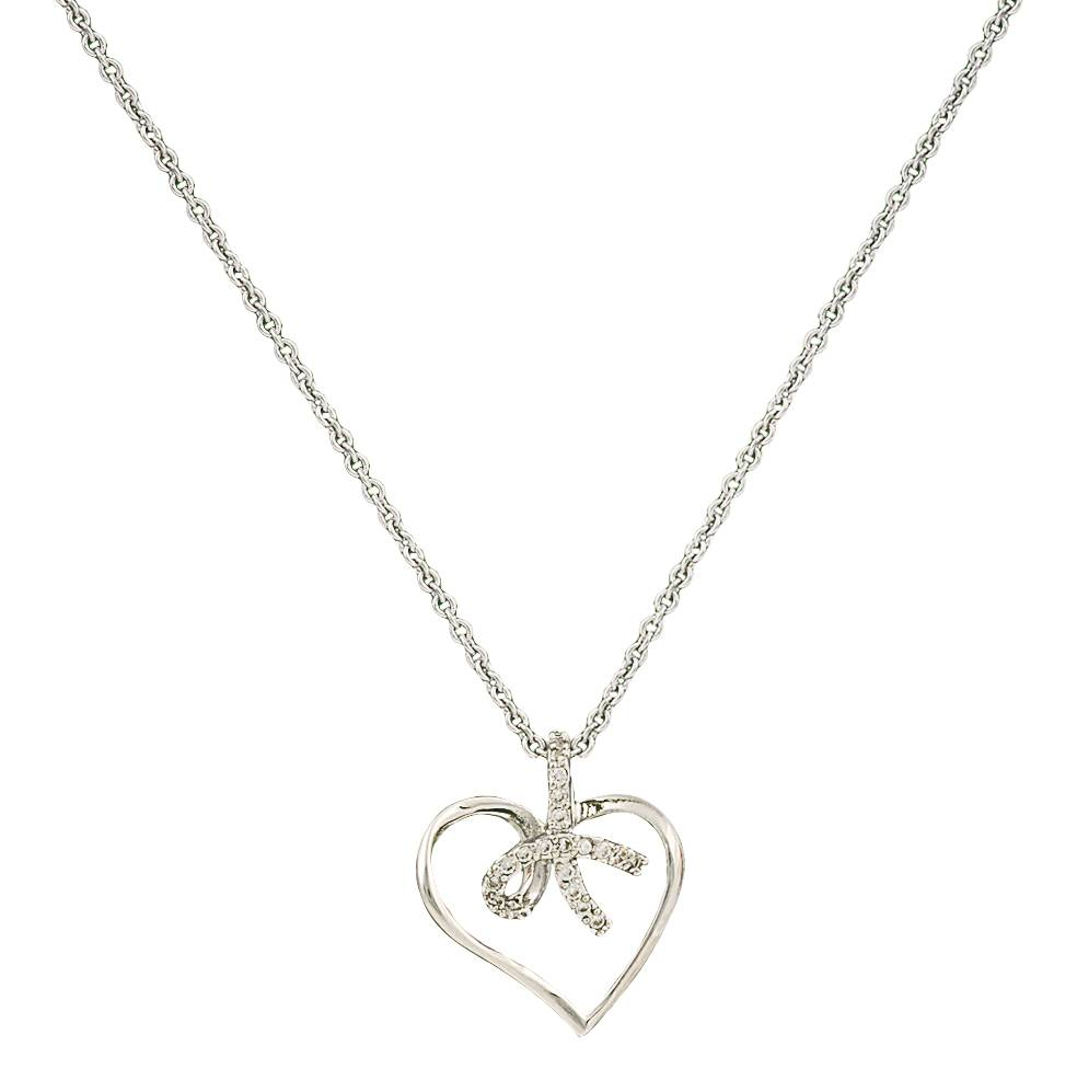 Montana Silversmiths Petit Heart Tied In A Bow Necklace