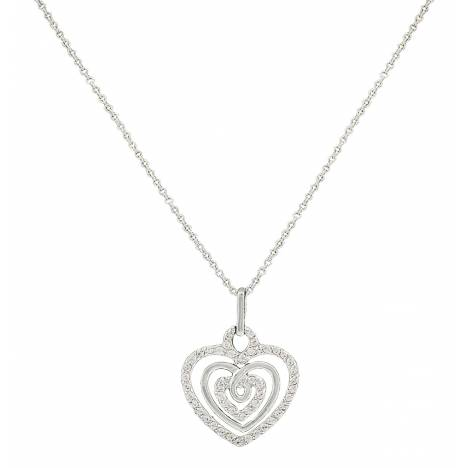 Montana Silversmiths Triple The Love Heart Necklace
