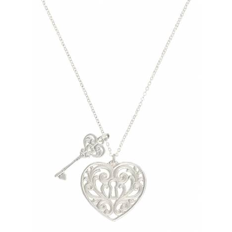 Montana Silversmiths Holding The Key To My Heart Double Charm Necklace