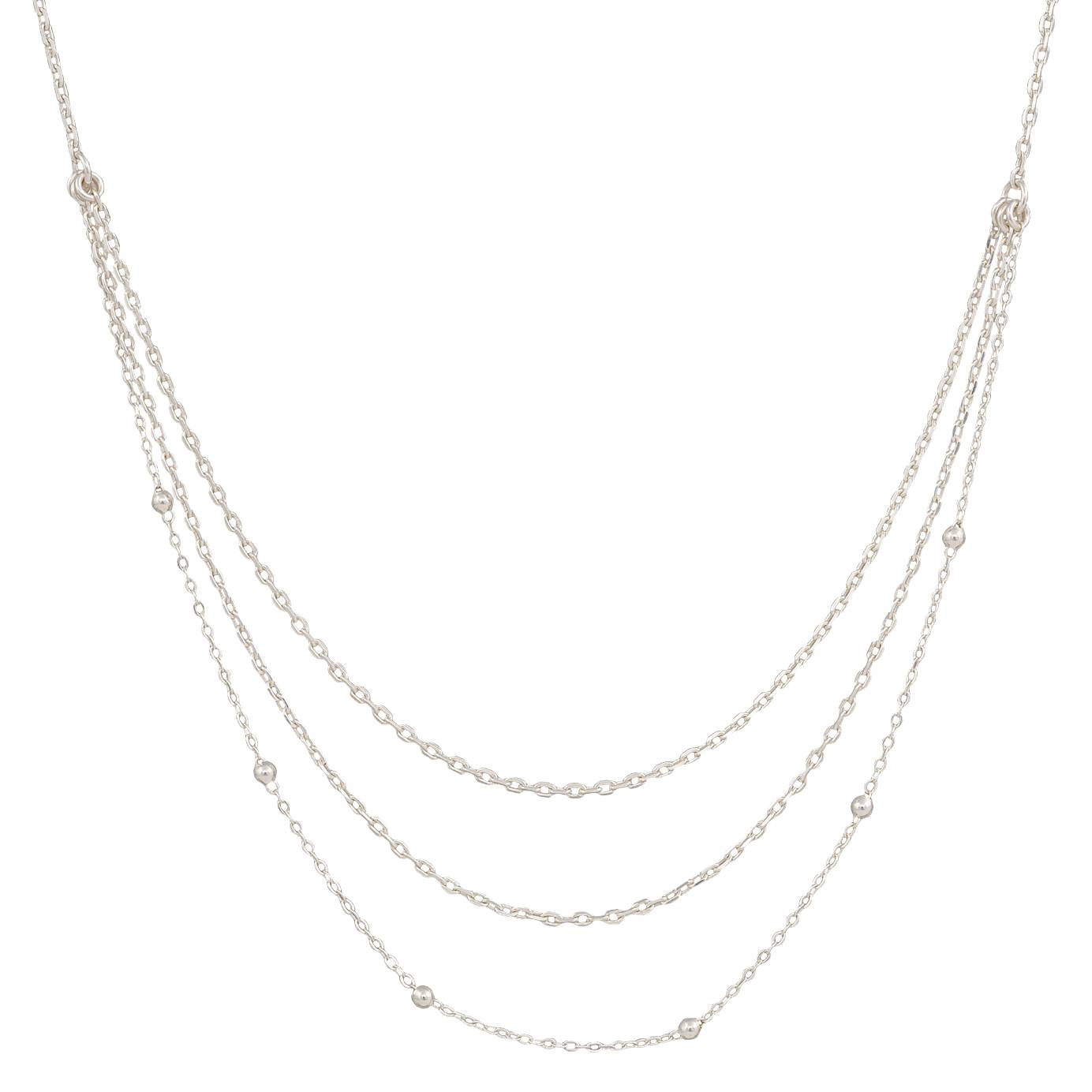 Montana Silversmiths Ripple Effect Triple Strand Necklace