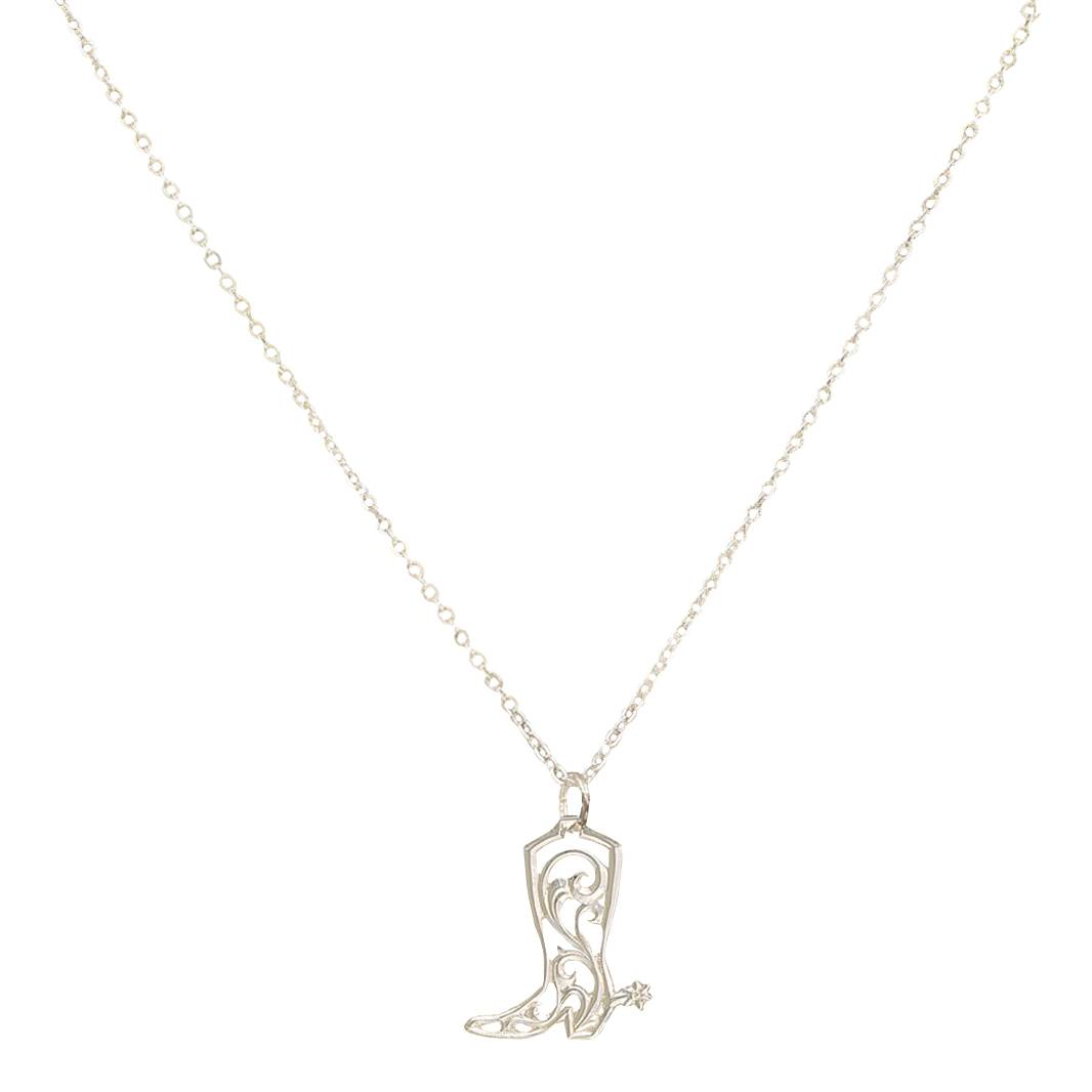 Montana Silversmiths Petit Cowgirl Kicks Charm Necklace
