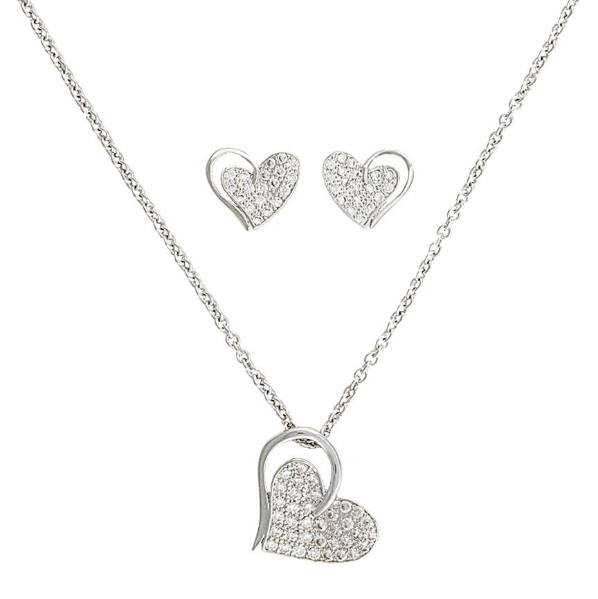 Montana Silversmiths Heart Print Jewelry Set