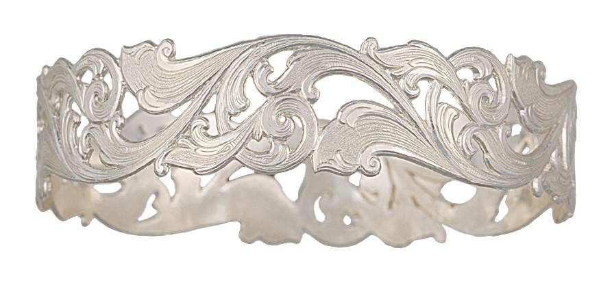 Montana Silversmiths Western Lace Open Filigree Bangle Bracelet