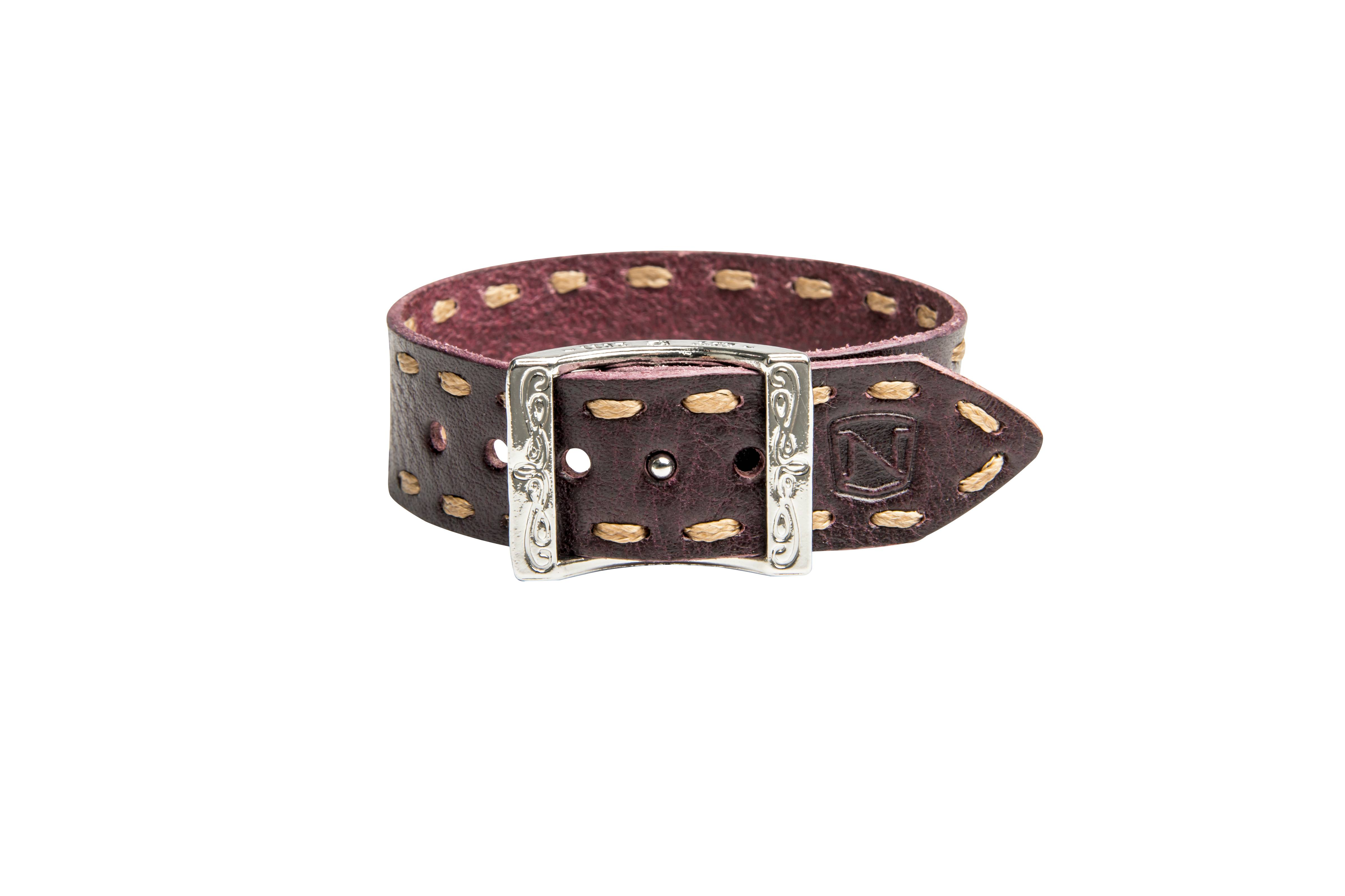 Outlet - Noble Outfitters Contrast Stitch Bracelet, Wine