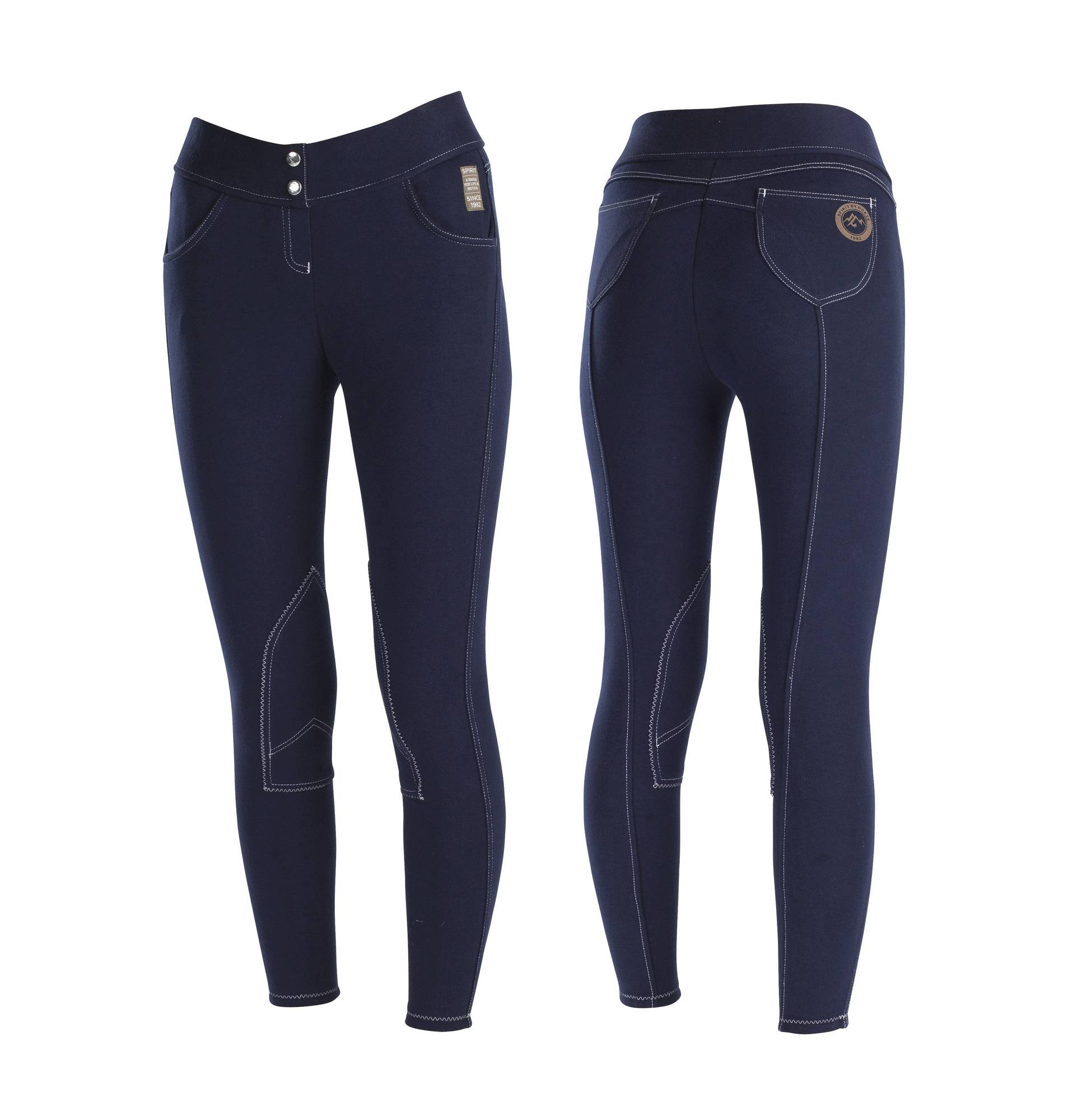 Horze Spirit Paige Pull On Breeches - Ladies, Knee Patch