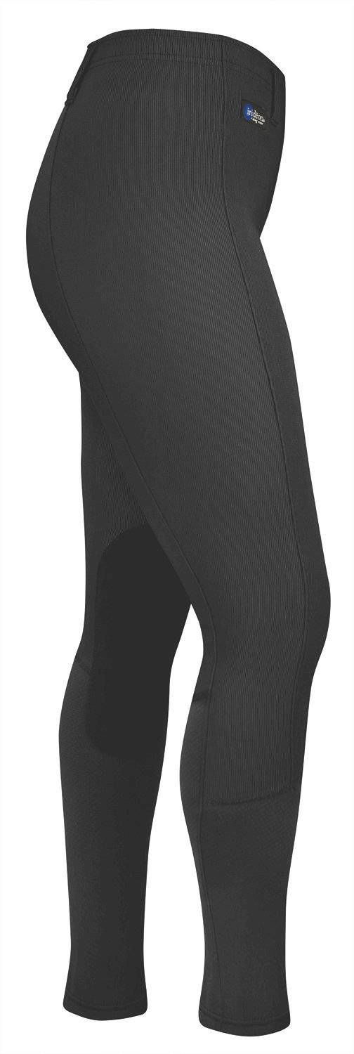 Outlet - Irideon Cadence Chausette Breeches - Kids, Knee Patch, Medium, Black