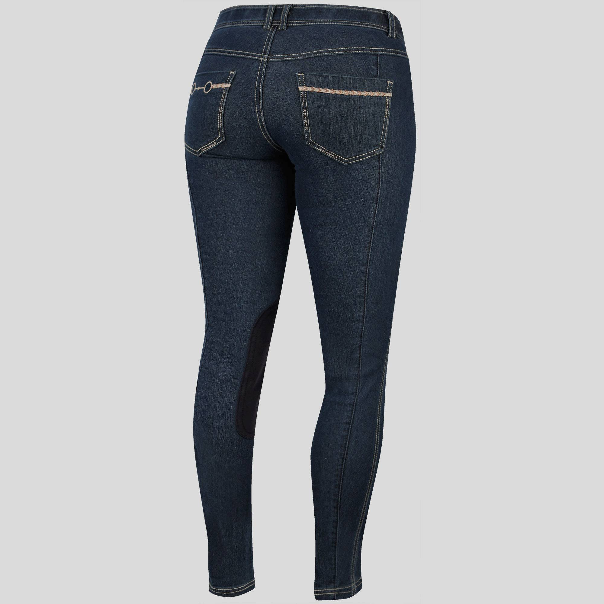 Irideon Bit & Reins Pocket Denim Breeches - Ladies