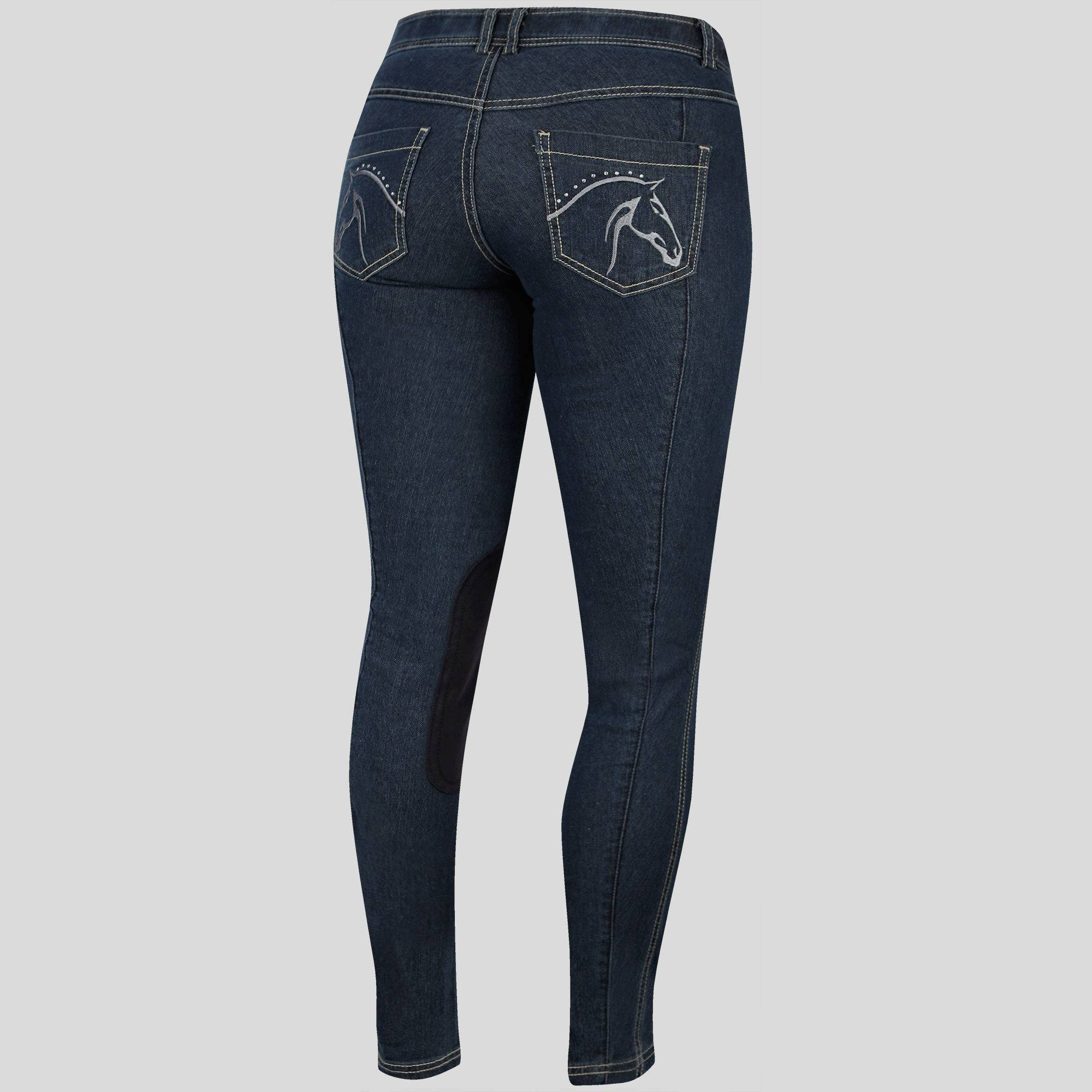 Irideon Diamond Horse Pocket Denim Breeches - Ladies