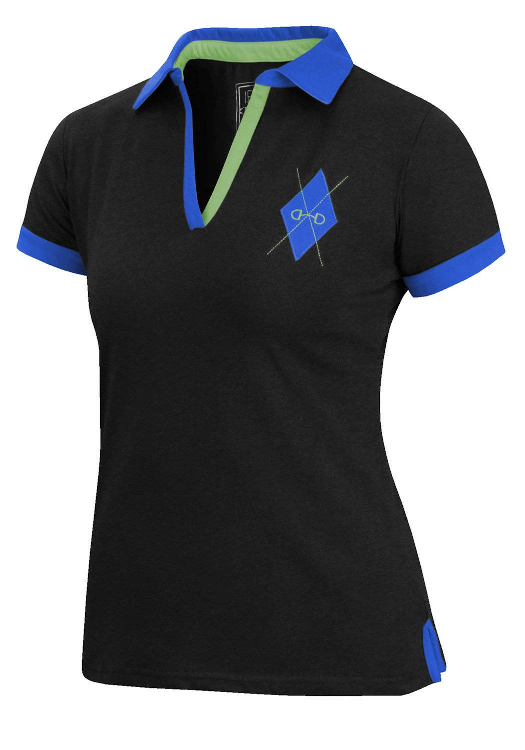 Irideon Argyle Polo Shirt- Ladies