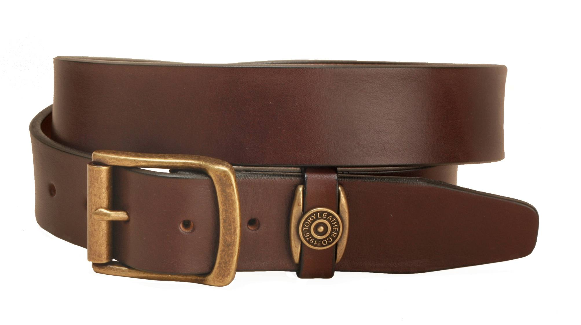 Tory Leather Strap Belt With Signature Keeper