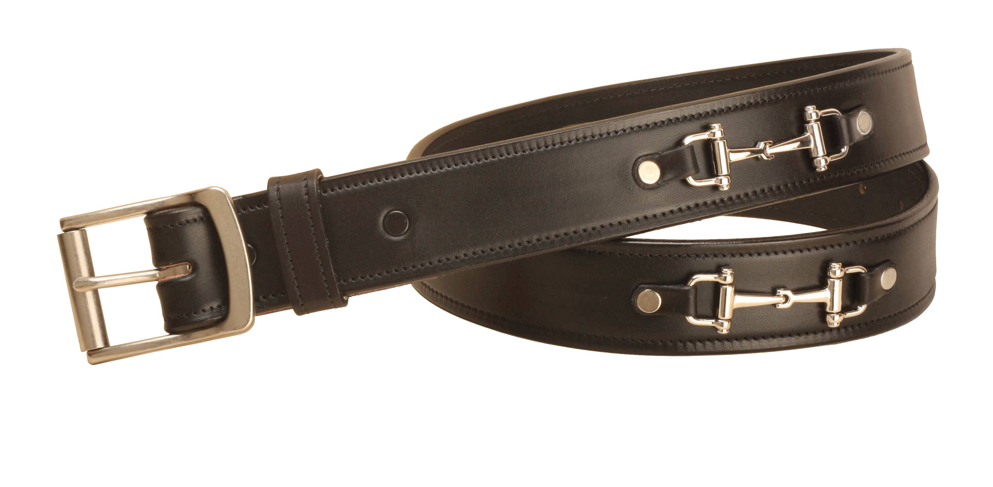 Tory Leather Nickel Snaffle Bit Leather Belt