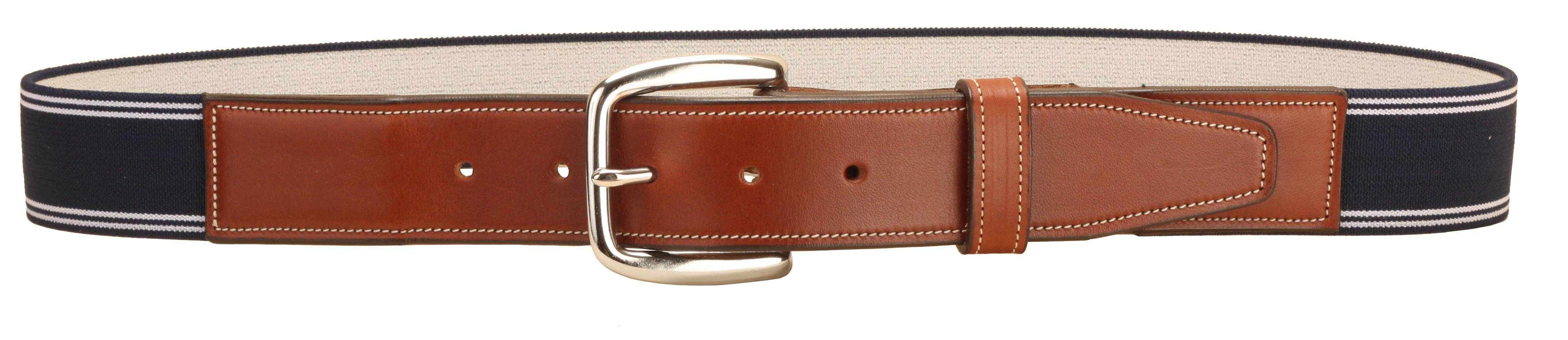 Tory Leather Elastic Belt With Leather Billets