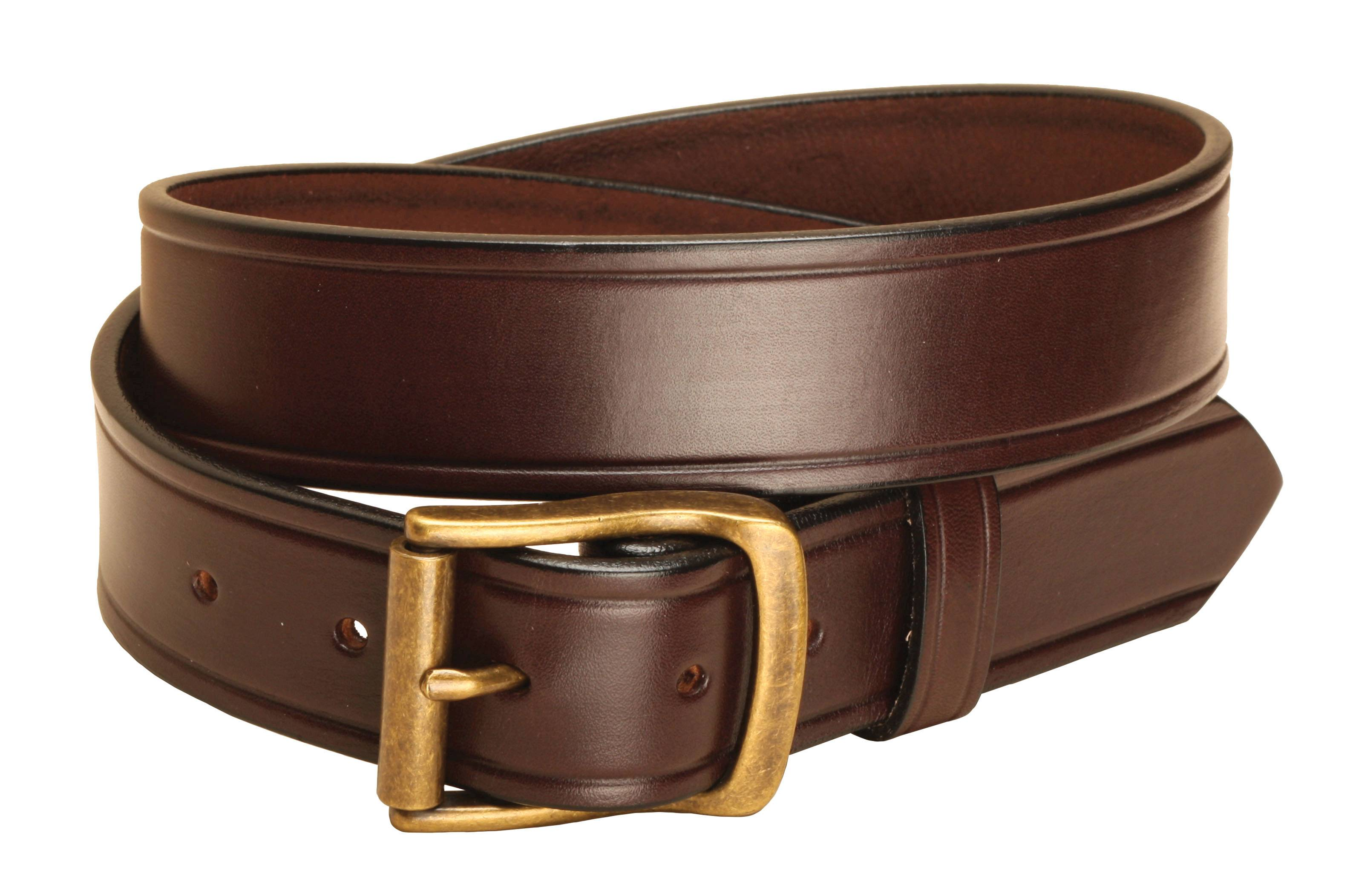 Tory Leather 1 1/2'' Plain Belt with Brass Buckle