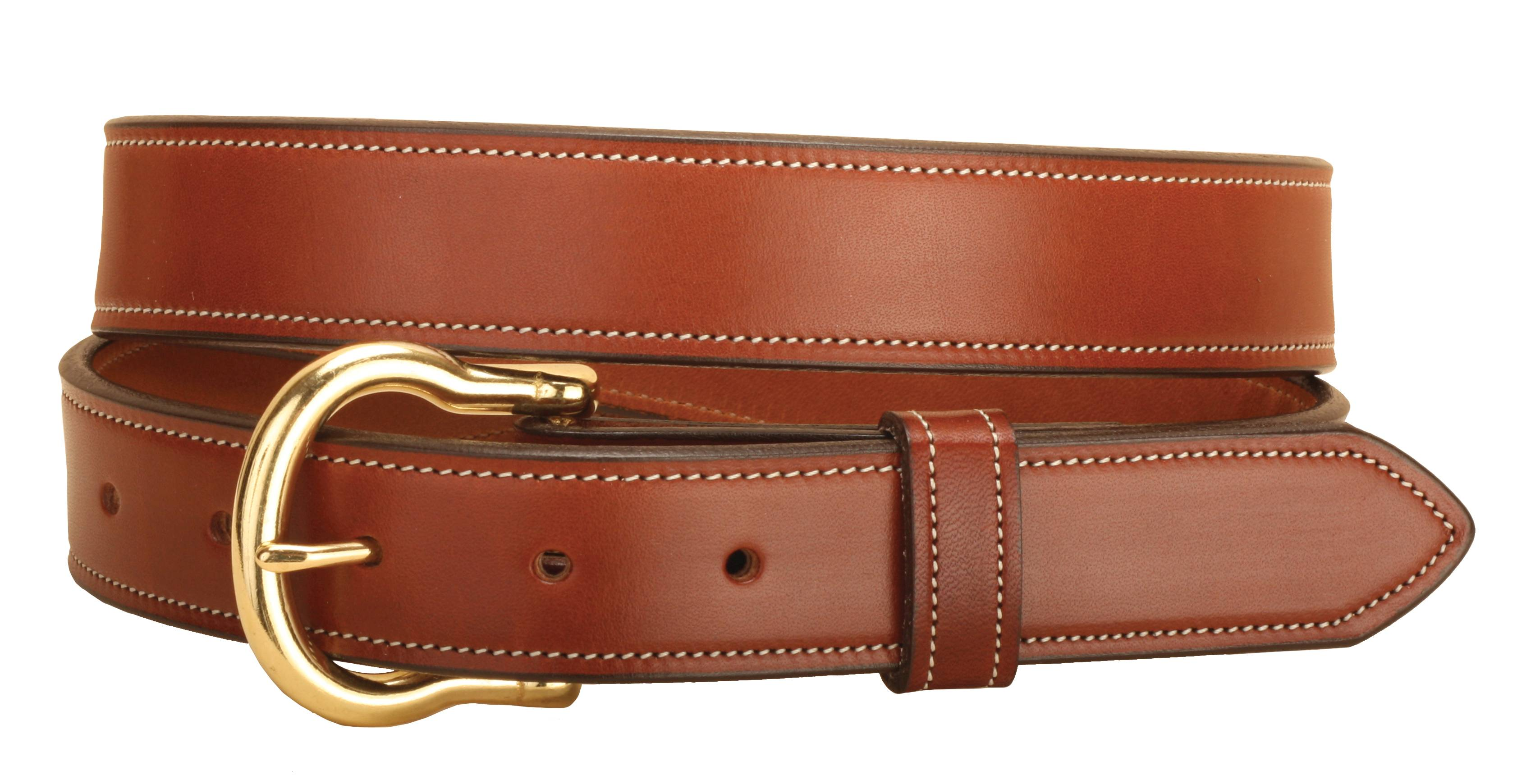 Tory Leather 1-1/4'' Double & Stitched Belt
