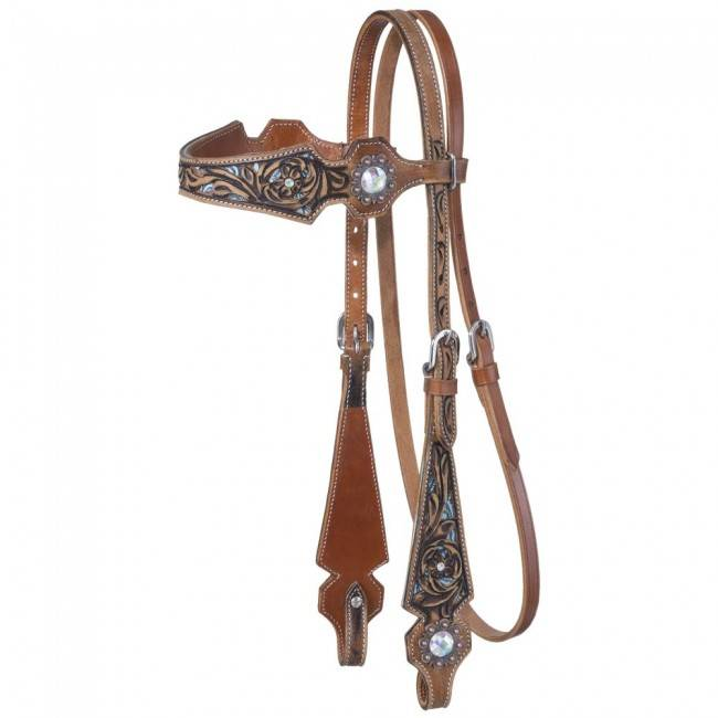 Silver Royal Skylar Browband Headstall
