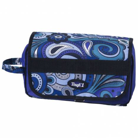 Tough-1 Roll Up Accessory Bag In Paisley Shimmer Print
