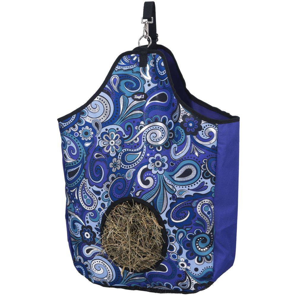 Tough-1 Nylon Hay Tote In Paisley Shimmer Print