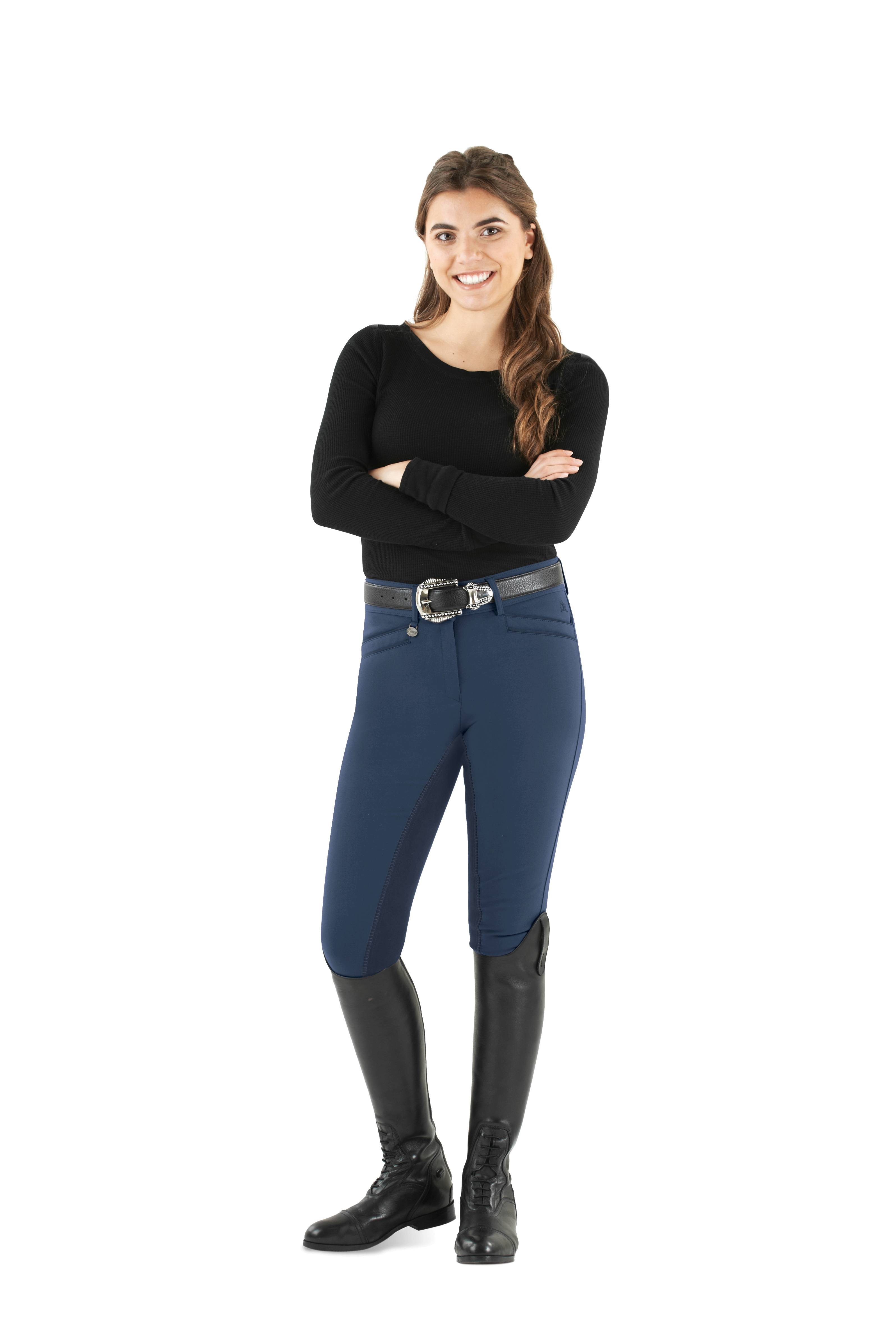 Ovation Ladies Slim Secret DX Front Zip Breeches - Full Seat