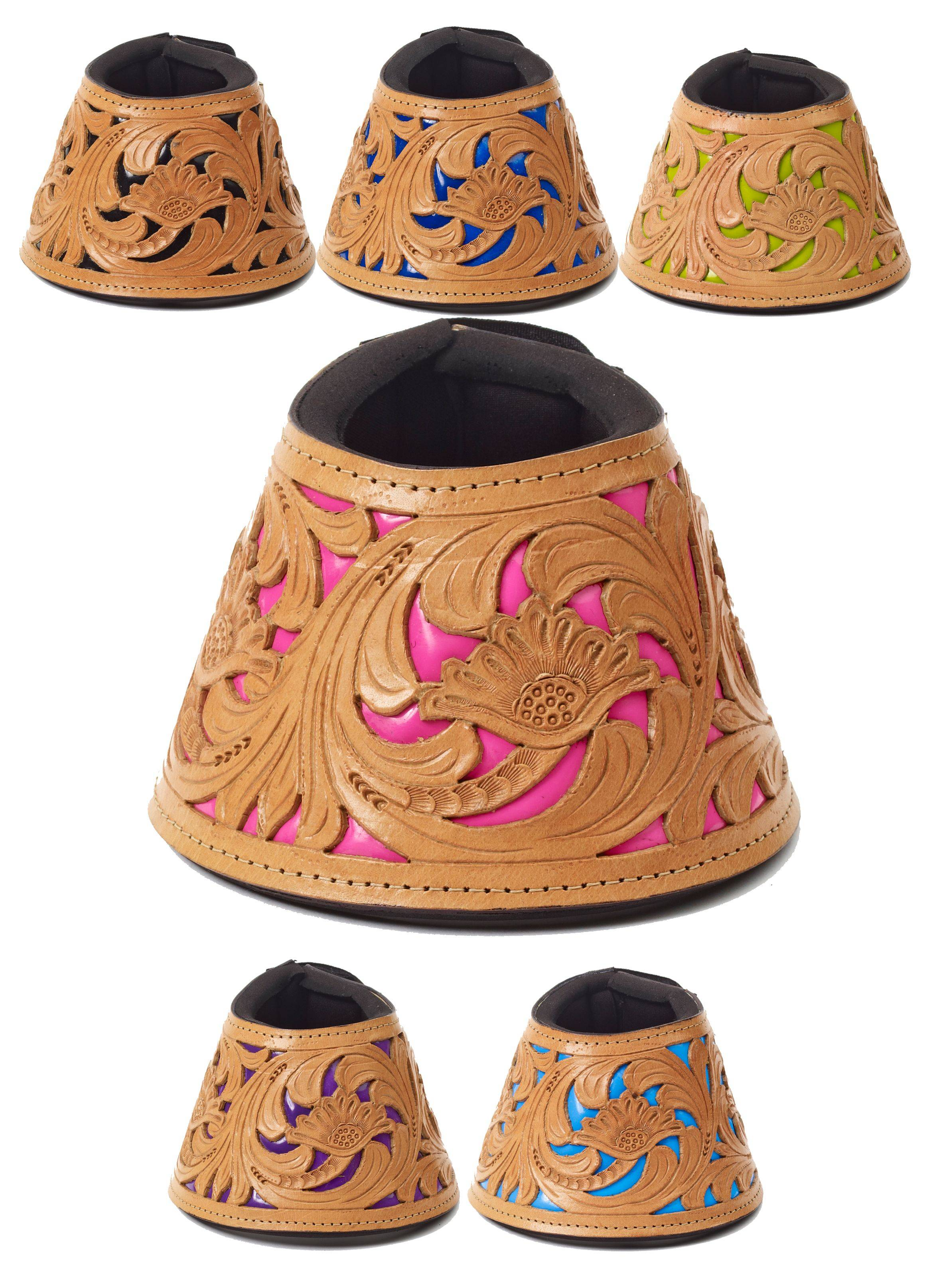 Mesquite Canyon Floral Tooled No Turn Bell Boots