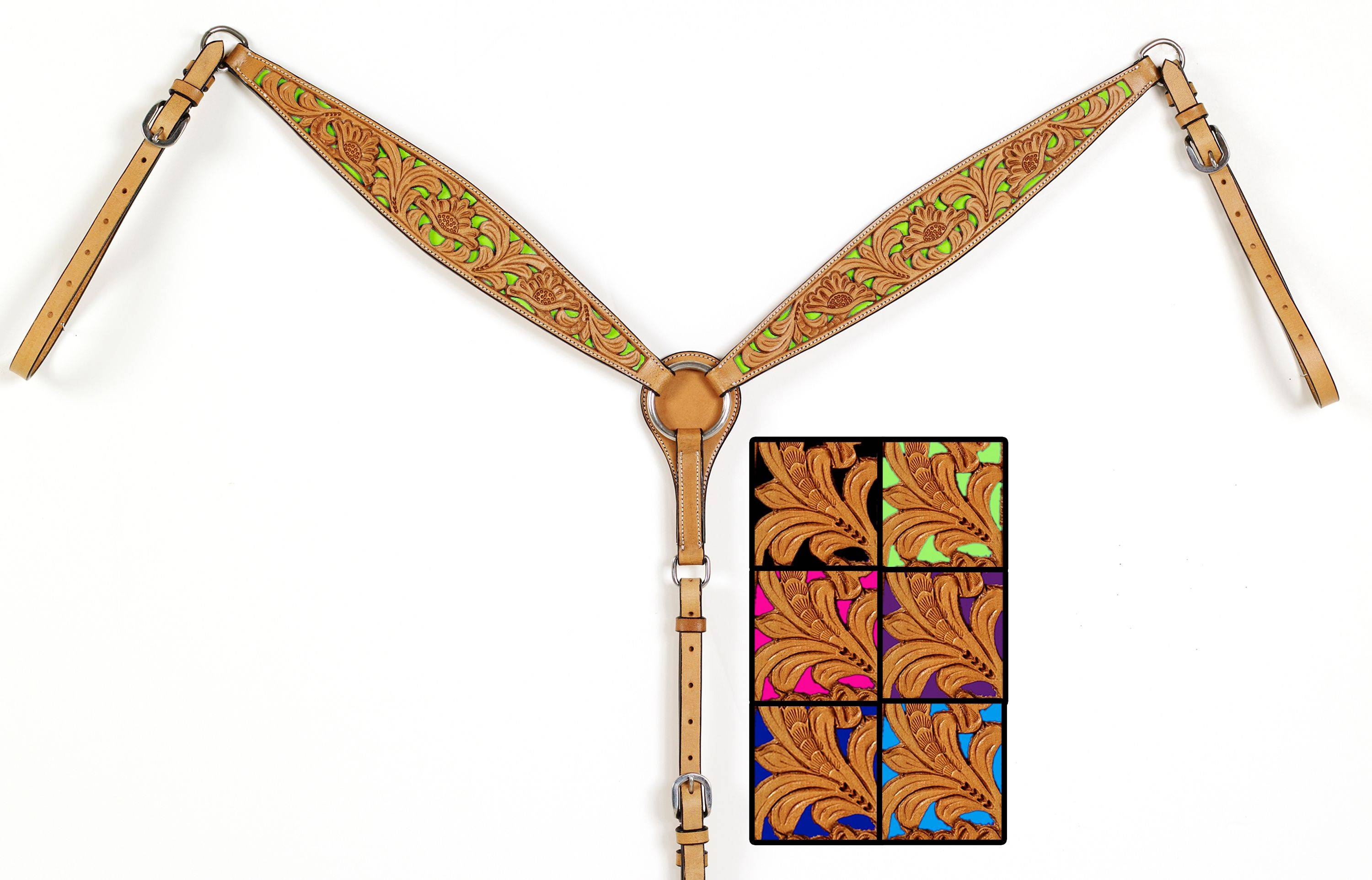 Mesquite Canyon Floral Tooled Breastcollar