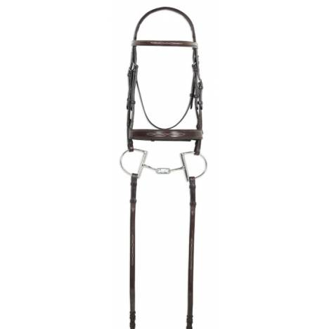 Ovation Fany Stitched Raised Padded Bridle with Reins