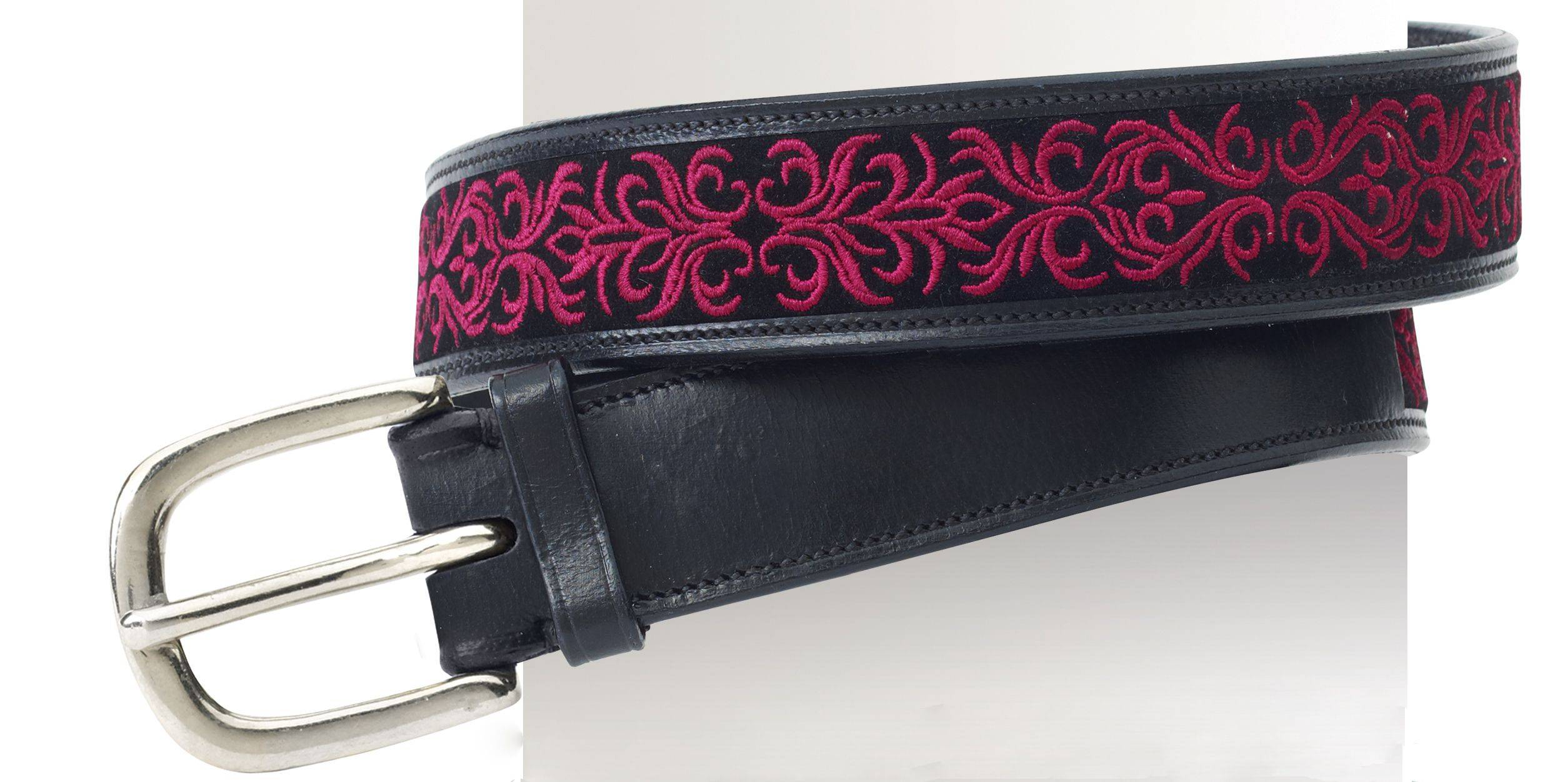Ovation Filigree Embroidered Belt - Ladies, 1.5""