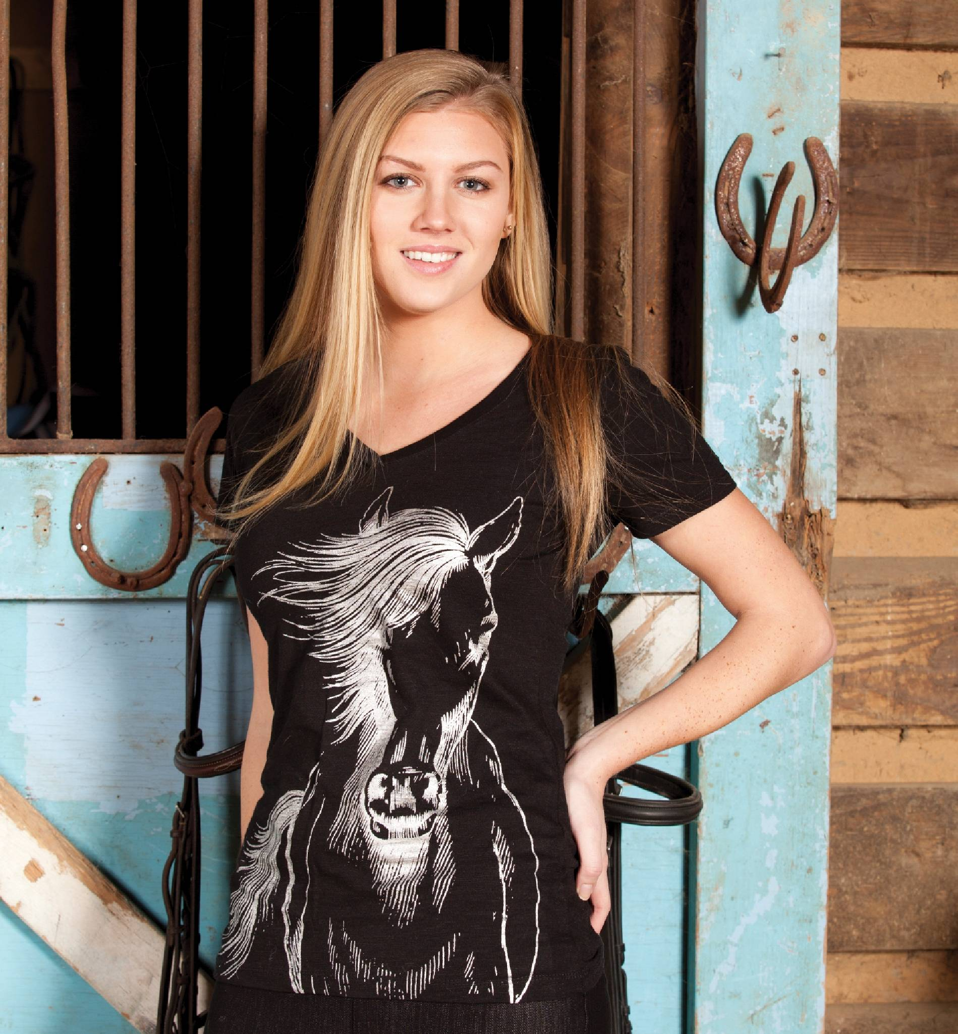 Geniune Ranch Brand Wild Horse Tee - Ladies