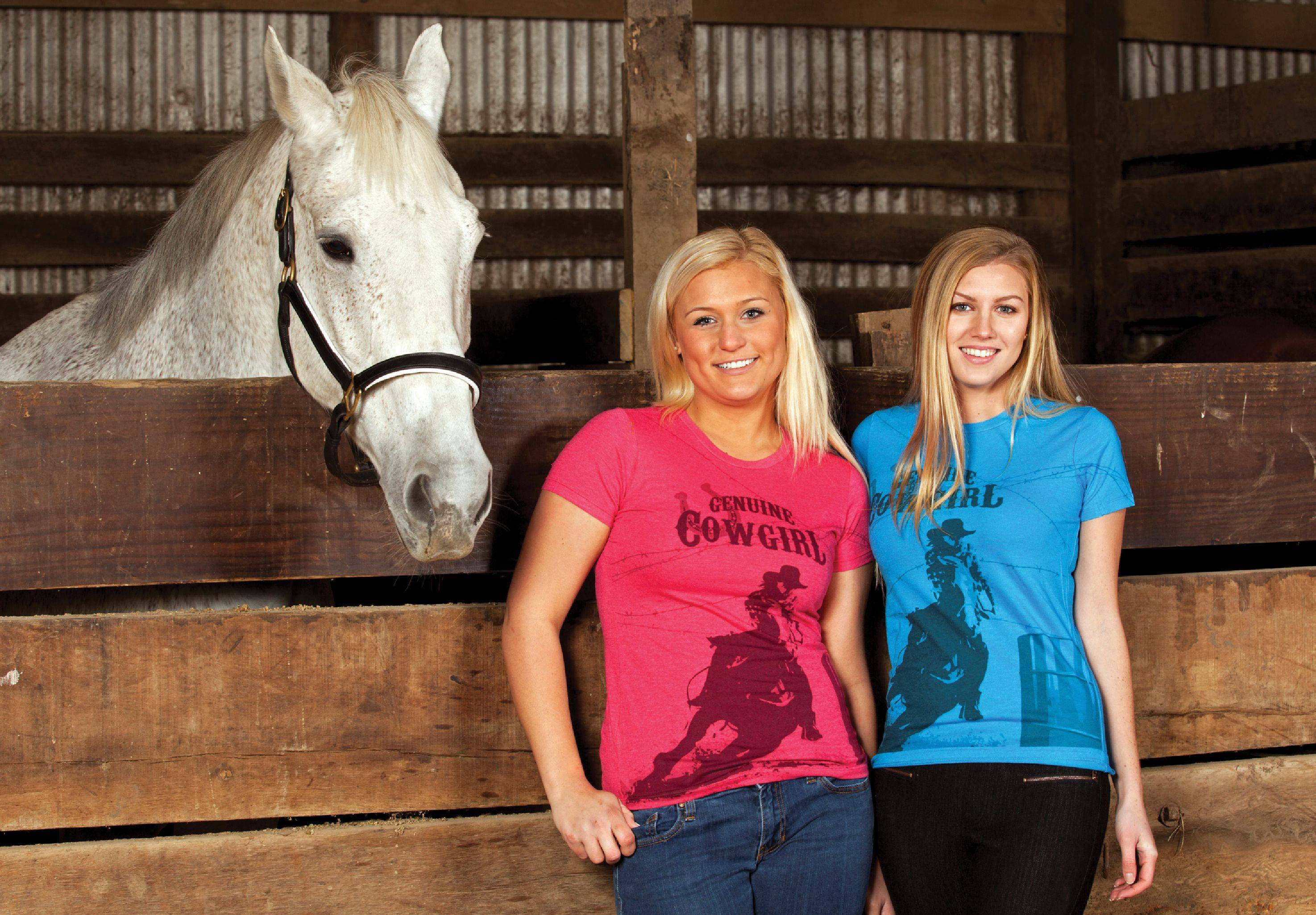 Geniune Ranch Brand Barrel Racer Tee - Ladies