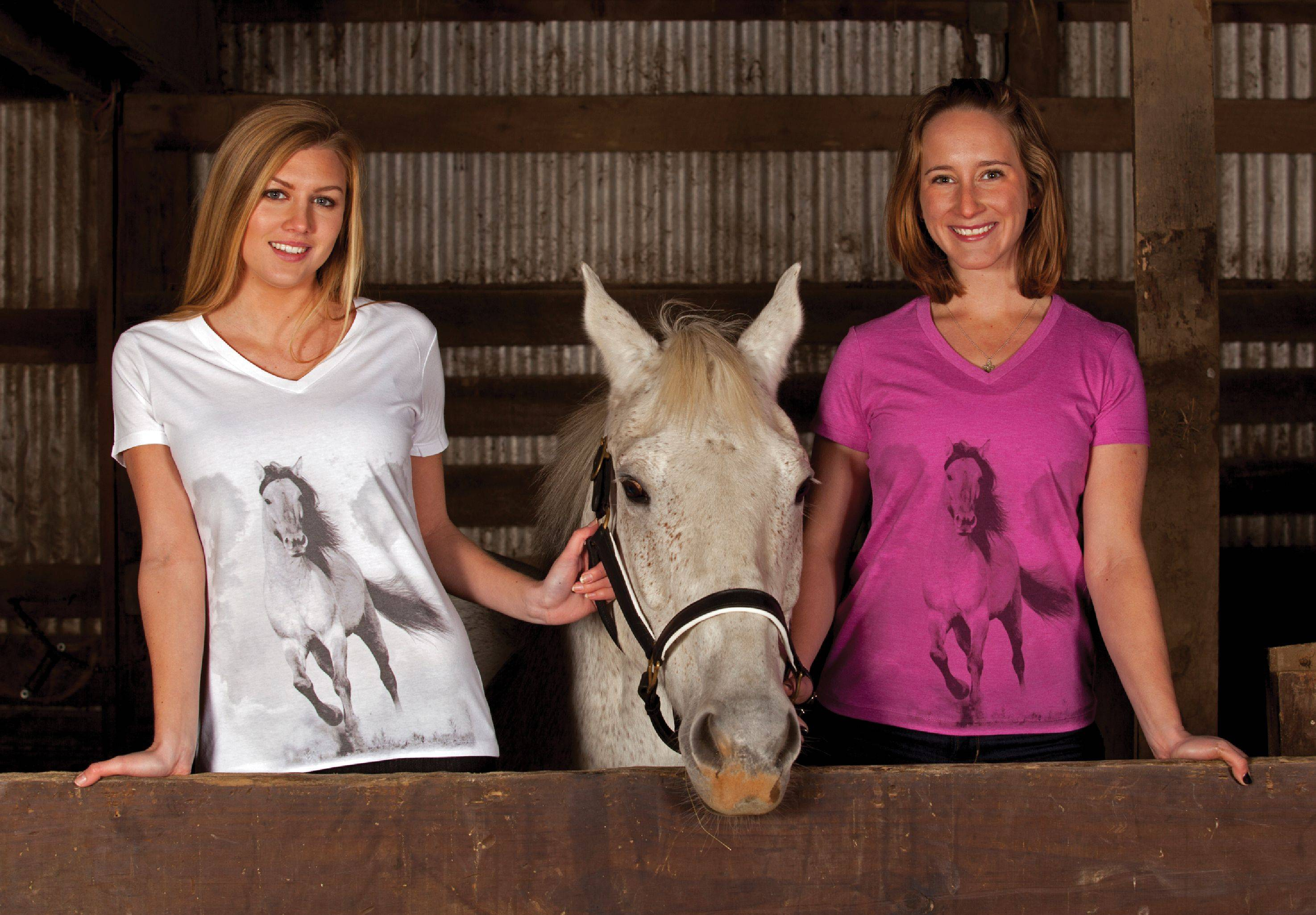 Genuine Ranch Brand Stallion Tee - Ladies