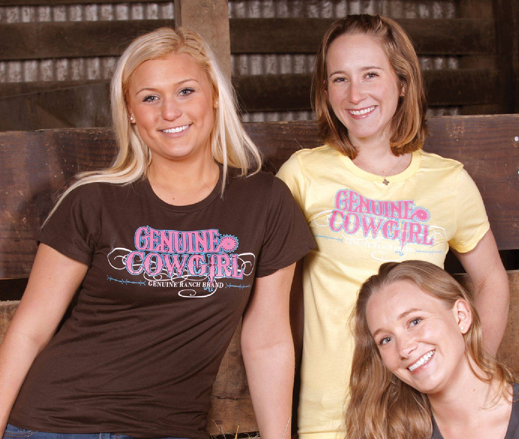 Genuine Ranch Brand Genuine Cowgirl Logo Tee - Ladies