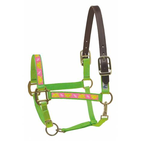 Perri's Leather Ribbon Safety Halter - Frogs