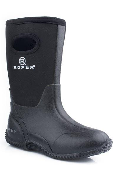 Roper Tall Barnyard Boots - Youth, Black
