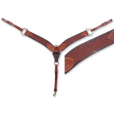 Martin Saddlery 2 3/4'' Breast Collar - Skirting Leather, Spider Stamp