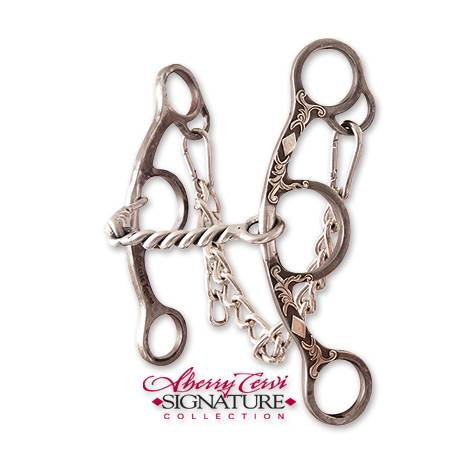 Classic Equine Cervi Twisted Wire Snaffle Diamond Short Shank