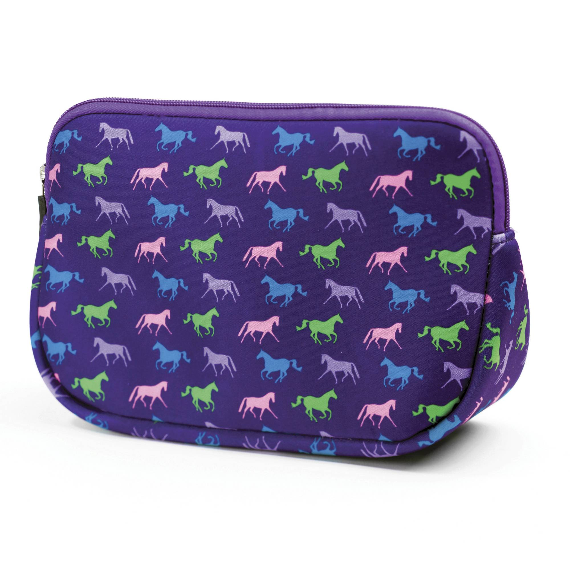 Kelley Neoprene Trianglualr Cosmetic Case - Horses