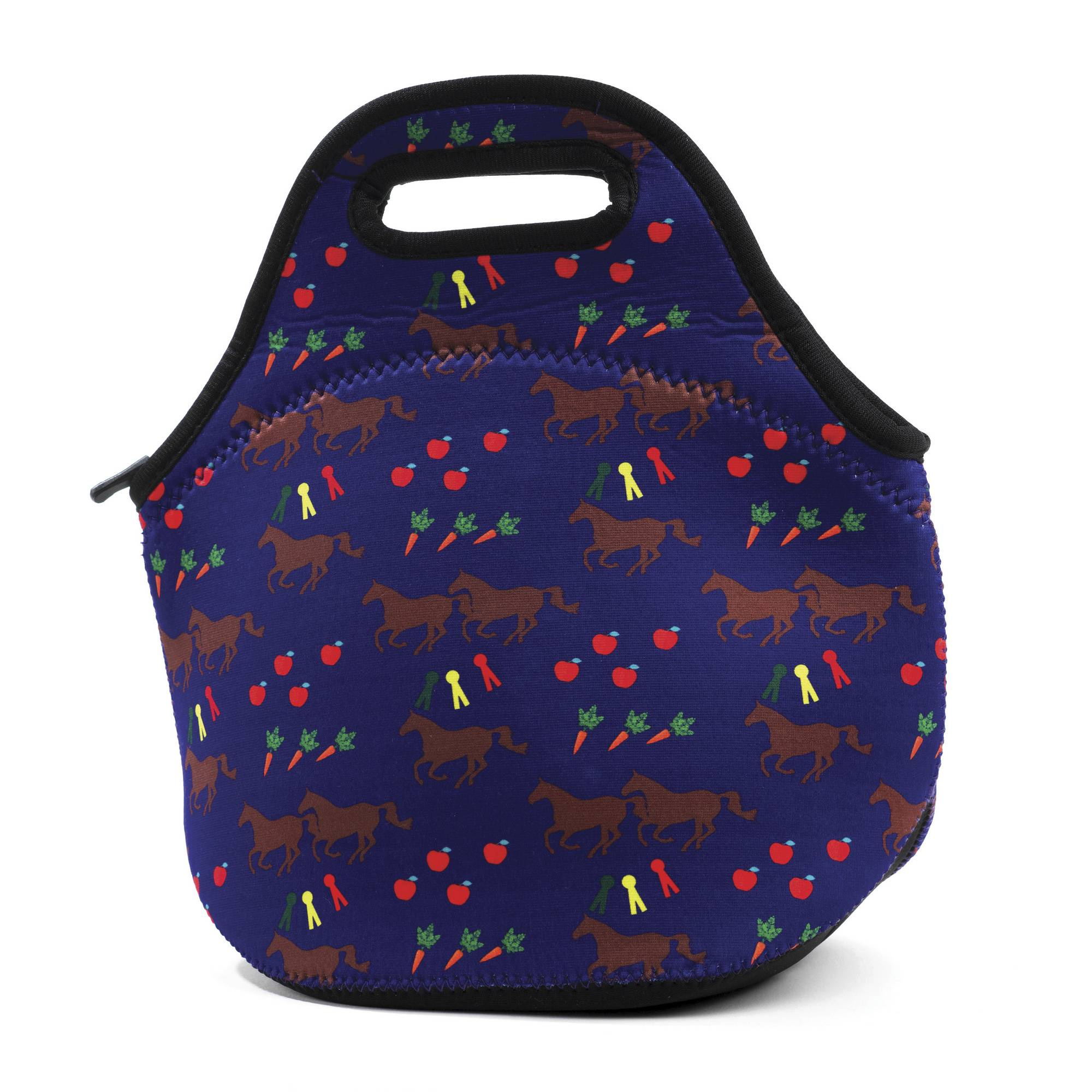 Kelley Neoprene Lunch Tote - Horses & Apples
