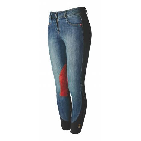 Tredstep Denim Breeches - Ladies, Knee Patch