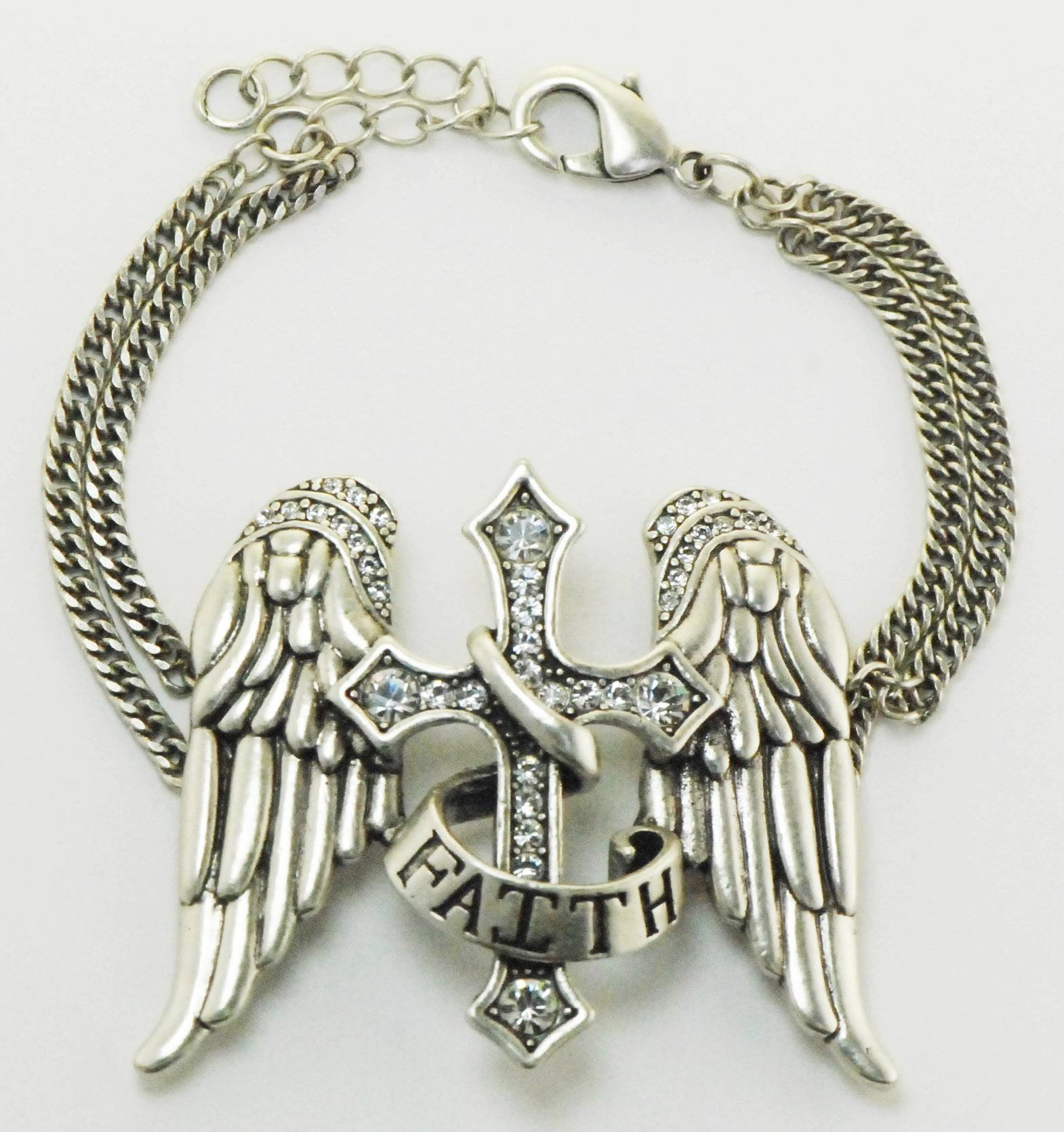 Western Edge Jewelry Angel Wings Faith Bracelet