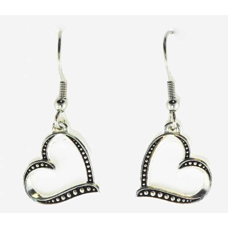 Western Edge Jewelry Side Heart Earrings