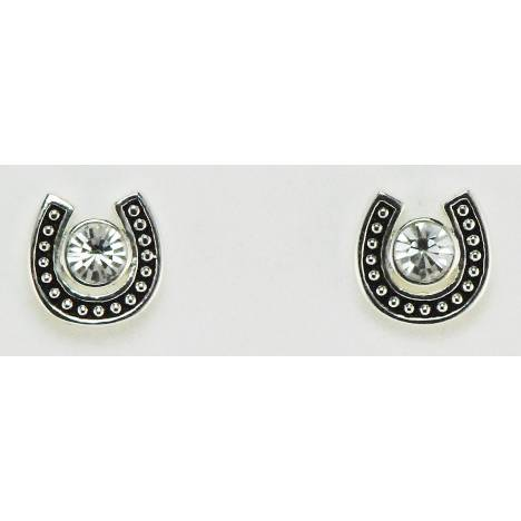 Western Edge Jewelry Large Crystal Horseshoe Earrings