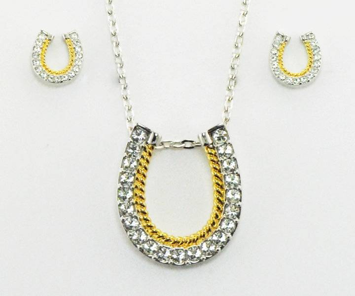 Western Edge Jewelry Horseshoes Rope Jewlery Set